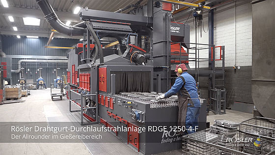 Rösler RDGE 1250 F gaasband machine